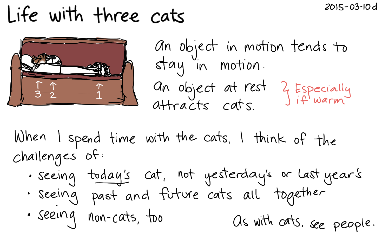 2015-03-10d Life with three cats -- index card #life #cats #seeing #perspective #moment.png