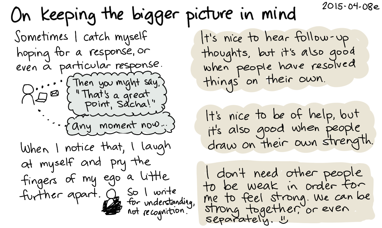 2015-04-08e On keeping the bigger picture in mind -- index card #connecting #support #ego.png