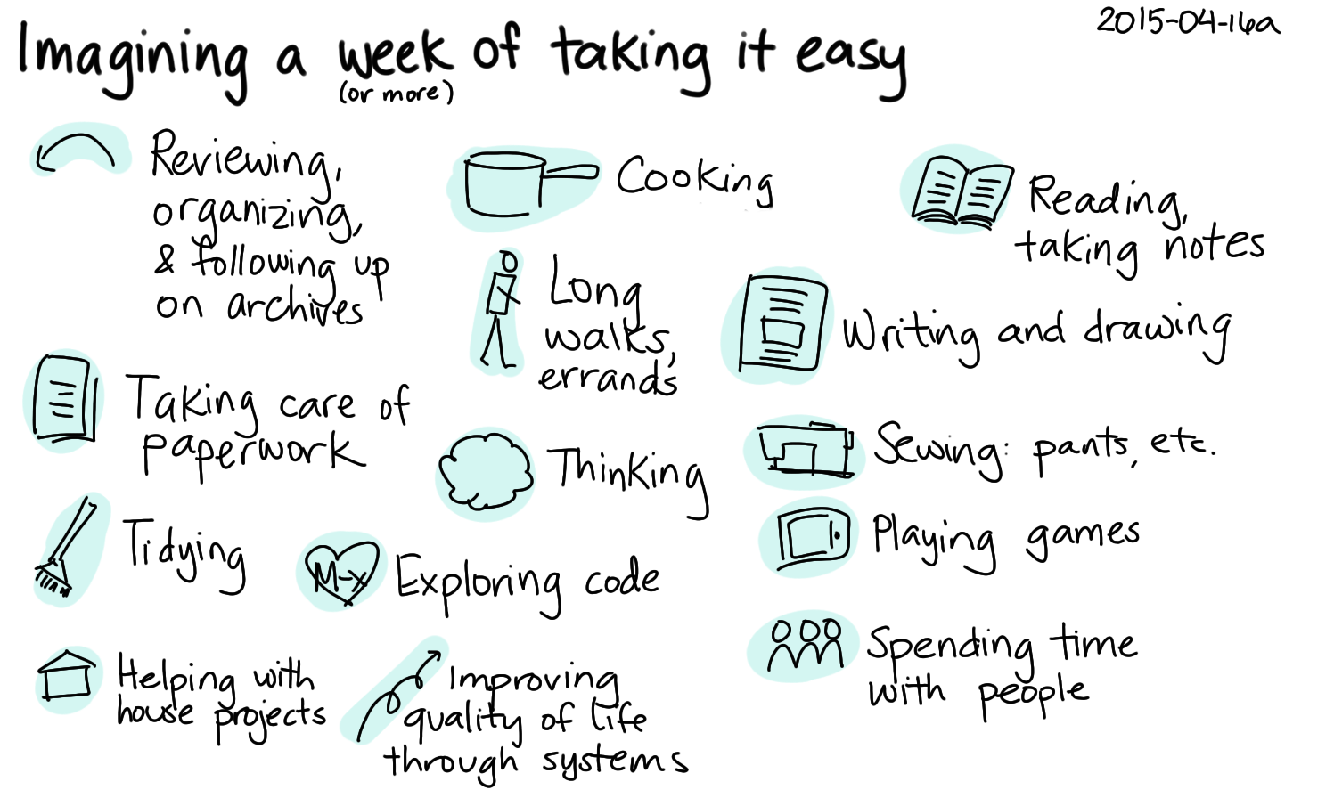 2015-04-16a Imagining a week of taking it easy -- index card #relaxing #life.png