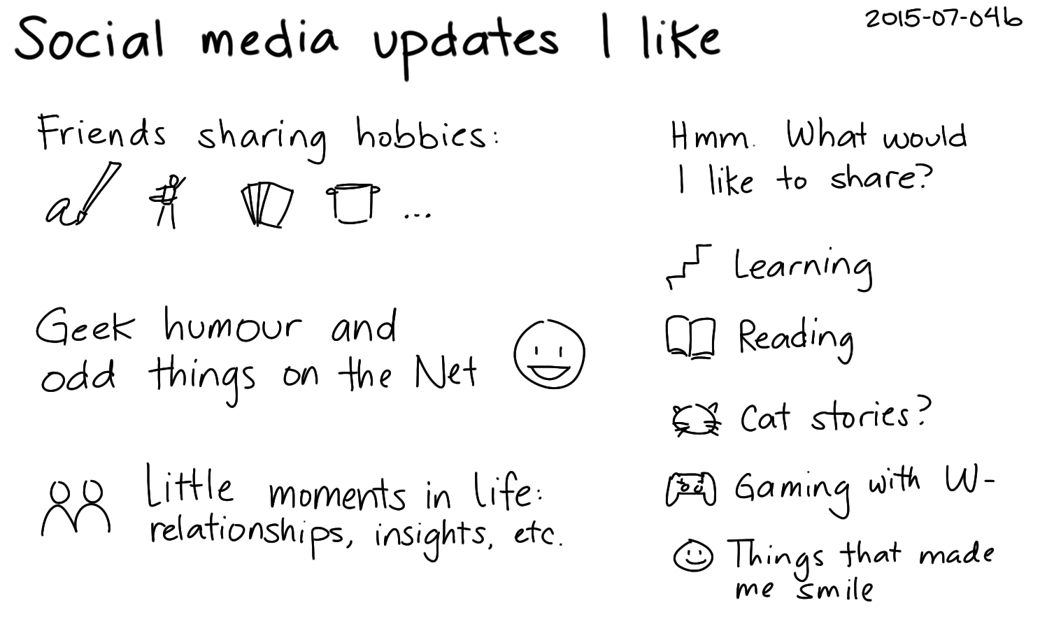 2015-07-04b Social media updates I like -- index card #connecting.png