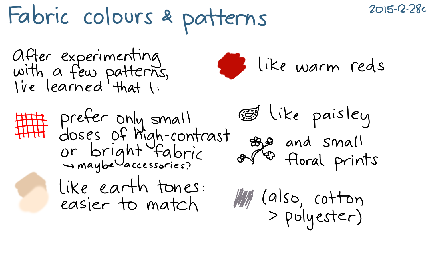 2015-12-28c Fabric colours and patterns -- index card #sewing #colour #style.png