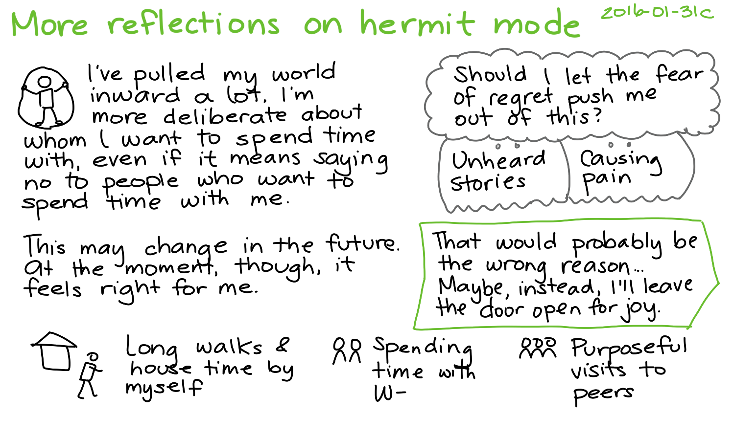 2016-01-31c More reflections on hermit mode -- index card #hermit #connecting #introvert.png