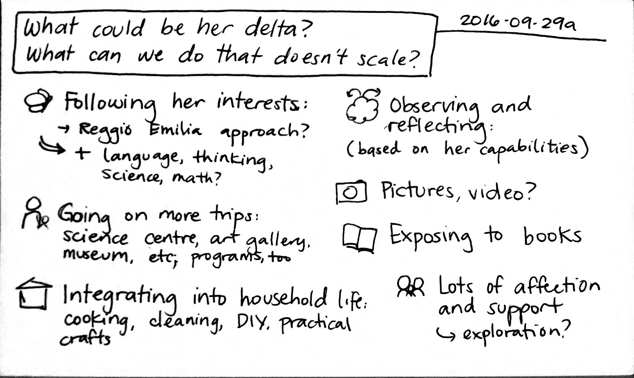 2016-09-29a What could be her delta - What can we do that doesn't scale #parenting #delta #childcare.jpg
