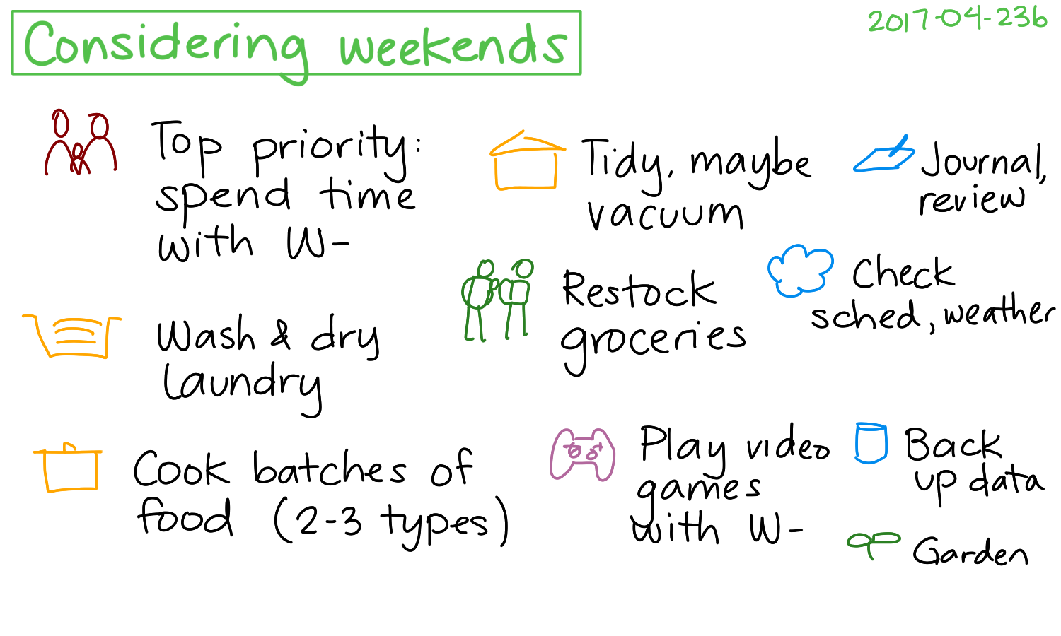 2017-04-23b Considering weekends #time #routines.png