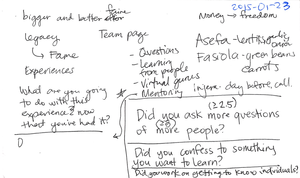 2015-01-23 Rough notes on goals and questions - for follow up -- index card #rough #notes.png