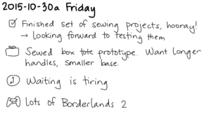 2015-10-30a Friday -- index card #journal