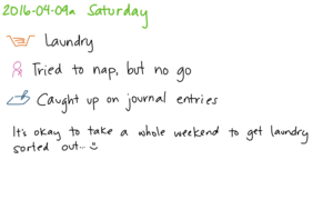 2016-04-09a Saturday -- index card #journal