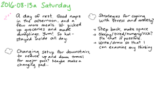 2016-08-13a Saturday -- index card #journal