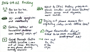 2016-09-02 Friday -- index card #daily #journal