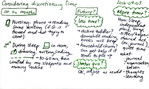 2016-09-03 Considering discretionary time -- index card #parenting #time