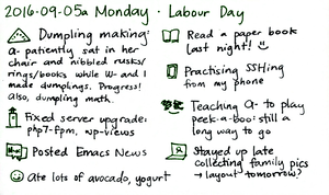 2016-09-05a Monday -- index card #daily #journal