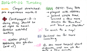 2016-09-06 Tuesday -- index card #daily #journal