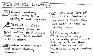2016-09-20a Tuesday #daily #journal
