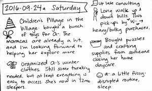 2016-09-24a Saturday #daily #journal