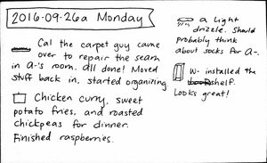 2016-09-26a Monday #daily #journal