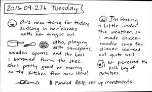2016-09-27b Tuesday #daily #journal