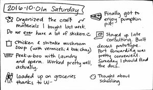 2016-10-01a Saturday #daily #journal