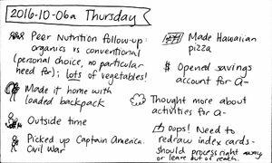 2016-10-06a Thursday #daily #journal