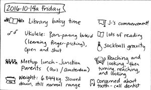 2016-10-14a Friday #daily #journal