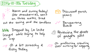 2016-10-18b Tuesday #daily #journal