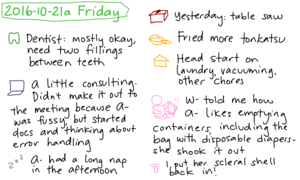 2016-10-21a Friday #daily #journal