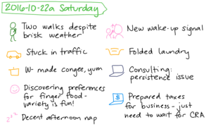 2016-10-22a Saturday #daily #journal