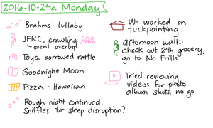 2016-10-24a Monday #daily #journal