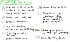 2016-10-25a Tuesday #daily #journal