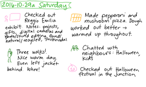 2016-10-29a Saturday #daily #journal