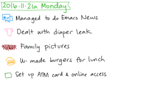 2016-11-21a Monday #daily #journal