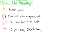2016-11-22a Tuesday #daily #journal