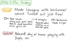 2016-11-25a Friday #daily #journal