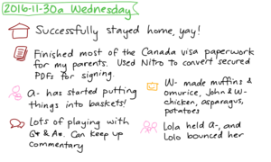 2016-11-30a Wednesday #daily #journal
