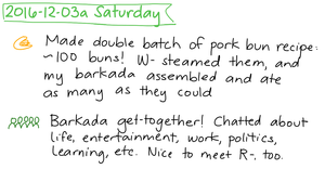 2016-12-03a Saturday #daily #journal