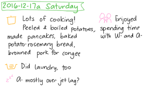 2016-12-17a Saturday #daily #journal