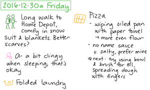 2016-12-30a Friday #daily #journal
