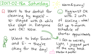 2017-02-18a Saturday #daily #journal