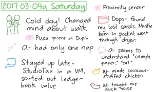 2017-03-04a Saturday #daily #journal