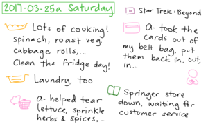 2017-03-25a Saturday #daily #journal