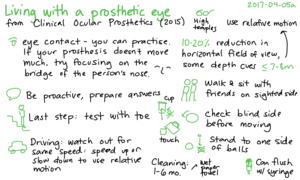 2017-04-05a Living with a prosthetic eye - from Clinical Ocular Prosthetics #notes #prosthetics