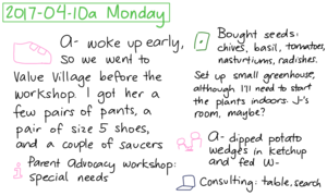 2017-04-10a Monday #daily #journal