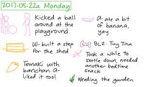 2017-05-22a Monday #daily #journal