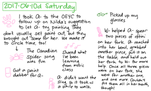 2017-06-10d Saturday #daily #journal