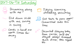 2017-06-17d Saturday #daily #journal