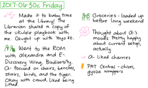 2017-06-30c Friday #daily #journal